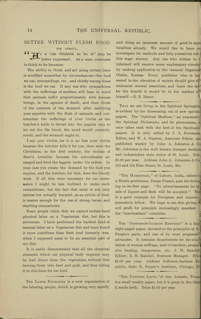 The World's advance-thought and the universal republic, v. 11-12 (Mar. 1897-Oct. 1899)