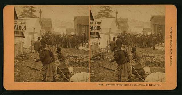 Women prospectors on their way to Klondyke [Klondike].