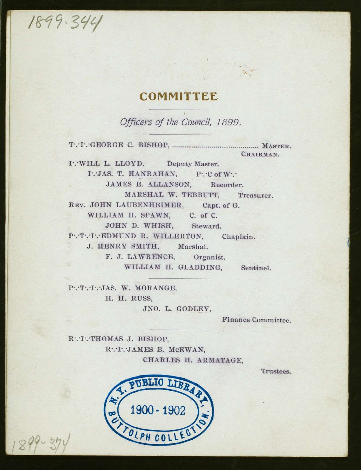 "DINNER TO R I JOHN R.GARDNER GRAND MARSHAL [held by] DeWITT CLINTON COUNCIL NO.22 R&S M [at] ""ALBANY, NY"""