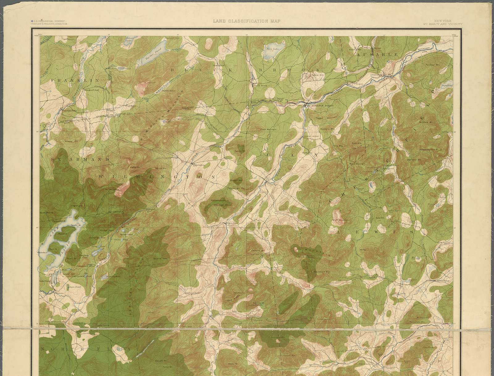 Land classification map, New York, Mt. Marcy and vicinity
