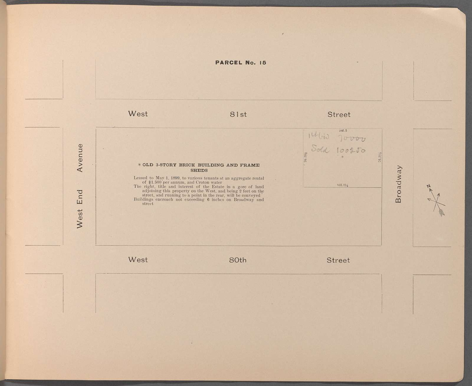 Second Executor's Sale under direction of the Supreme Court. Estate of Amos R. Eno