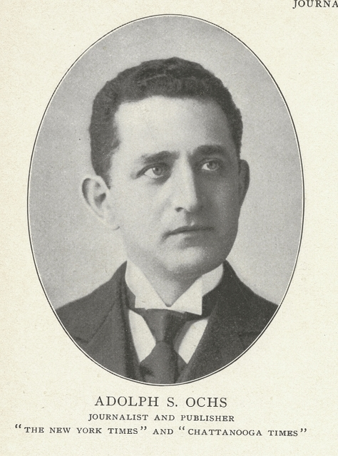 Adolph S. Ochs, journalist and publisher