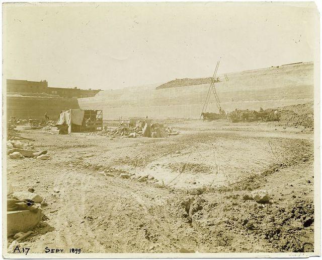 Demolition of the Croton Reservoir.
