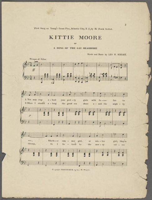 Kittie Moore, or, Song of the gay seashore