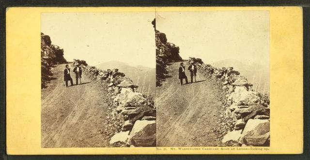 Mt. Washington Carriage Road, at ledge, looking up, N.H.