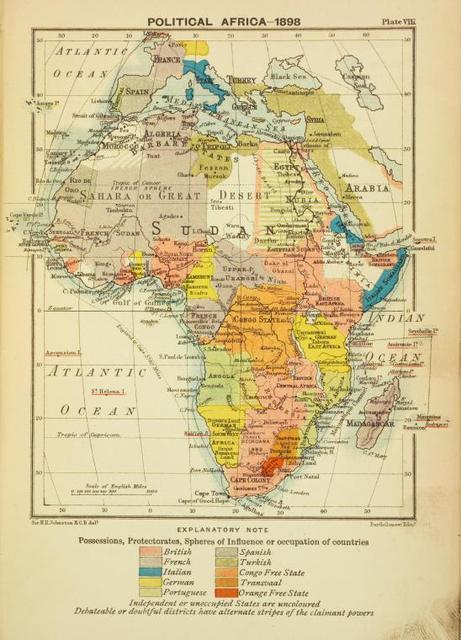 Political Africa - 1898.