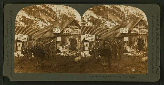 The leading store at Sheep Camp, Alaska.