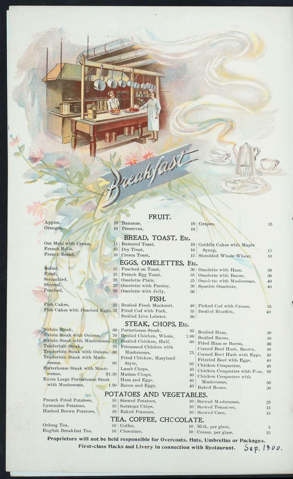 "BREAKFAST,DINNER & SUPPER MENUS [held by] ELMER WOODBURY HOTEL & RESTAURANT COMPANY [at] ""UNION STATION, PORTLAND,ME."" (HOTEL & REST;)"