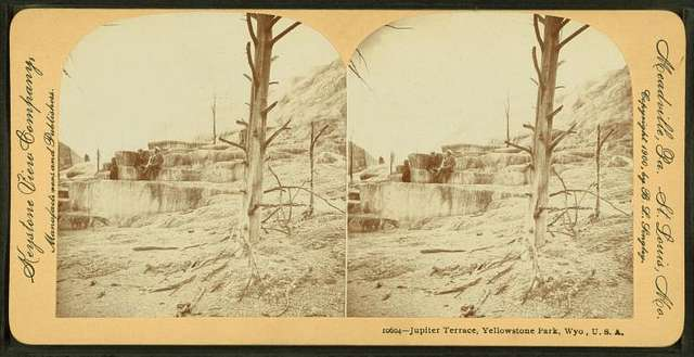 Jupiter Terrace, Yellowstone Park, Wyo. U.S.A.