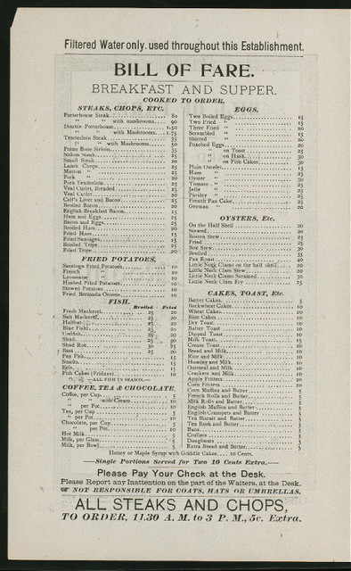 "BREAKFAST AND SUPPER [held by] EDWARD F. LANG'S LADIES AND GENTS LUNCH ROOM AND RESTAURANT [at] ""139 EIGHTH STREET, NEW YORK"" (REST;)"
