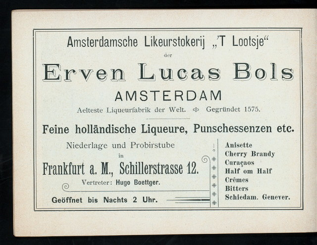 """DAILY MENU [held by] CAFE' IMPERIAL [at] """"FRANKFURT, GERMANY - 13 KAISERSTRASSE"""" (CAFE')"""