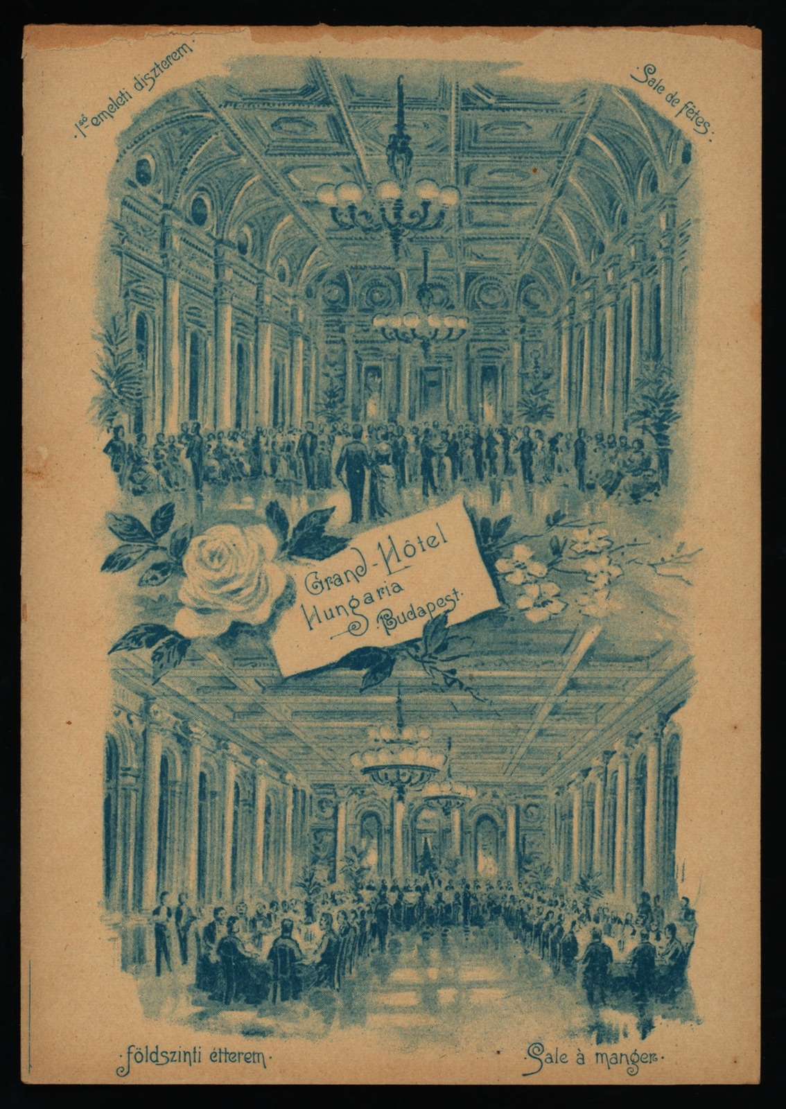 "DINNER [held by] GRAND HOTEL [at] ""BUDAPEST, HUNGARY"" (HOTEL;)"