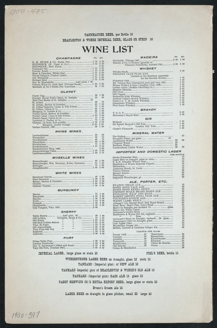 "DINNER [held by] SINCLAIR HOUSE [at] ""BROADWAY & EIGHTH STREET; [NEW YORK, NY]"" (HOTEL;)"