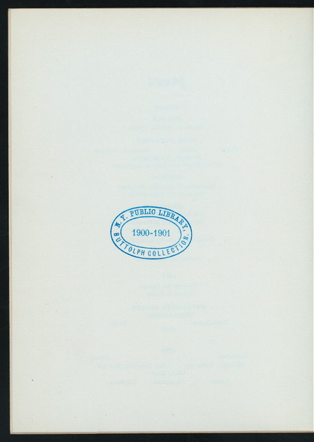 "DINNER IN HONOR OF MR. AND MRS. WILLIAM JENNINGS BRYAN [held by] NATIONAL ASSOCIATION OF DEMOCRATIC CLUBS [at] ""HOFFMAN HOUSE (CHICAGO, IL?)"" (HOTEL;)"