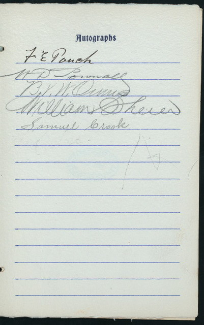 "DINNER TENDERED TO RIGHT WORSHIPFUL BENJAMIN V.W. OWENS, DISTRICT DEPUTY GRAND MASTER [held by] THIRD MASONIC DISTRICT MASTERS' ASSOCIATION [at] ""ARGYLE, THE, BROOKLYN, NY"" ([REST?];)"