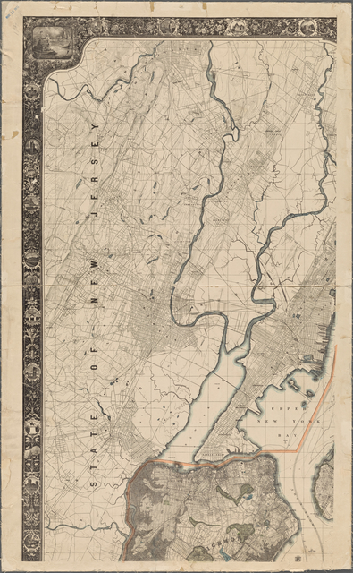 General map of the city of New York. Showing. . . The existing topographical and characteristic features. . . [and] a tentative and preliminary plan for a system of streets in those parts which had no official street plans prior to 1898.