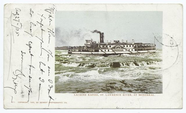 Lachine Rapids, St. Lawrence River at Montreal