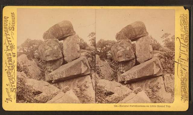 Natural fortifications on Little Round Top.