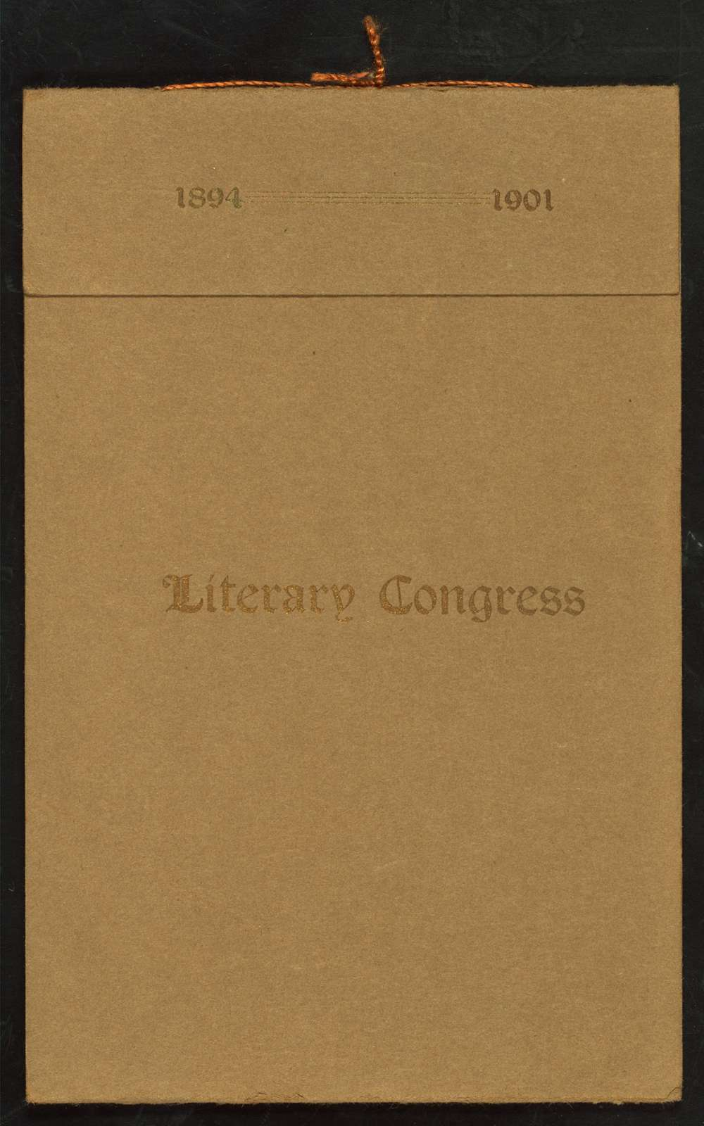 """EIGHTH ANNUAL CONGRESS [held by] LITERARY CONGRESS OF CLUBS [at] """"COOPER HALL, BLOOMINGTON, IL"""" (OTHER (HALL);)"""