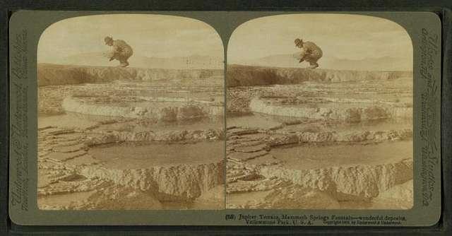 Jupiter Terrace, Mammoth Springs Fountain – wonderful deposits – Yellowstone Park, U.S.A.