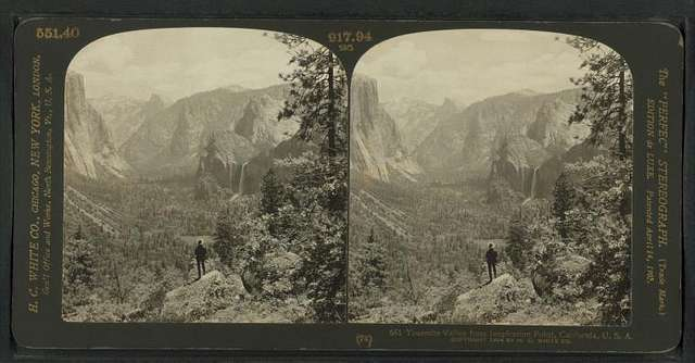 Yosemite Valley from inspiration Point, California, U.S.A.