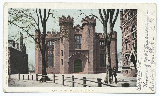 Alumni Hall, Yale Coll., New Haven, Conn.