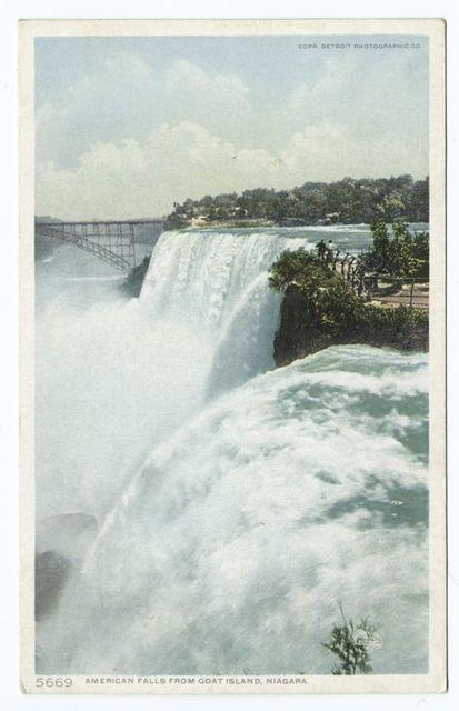 American Falls from Goat Island, Niagara, N. Y.