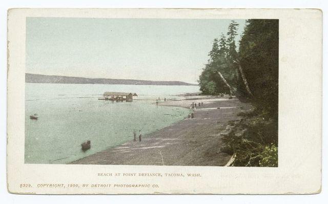 Beach at Point Defiance, Tacoma, Wash.