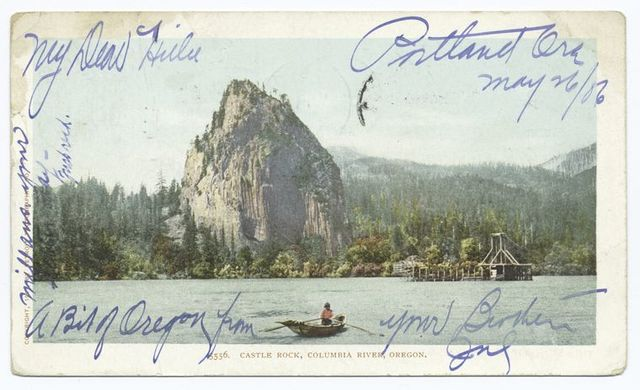 Castle Rock, Columbia River, Ore.