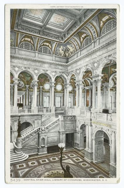Central Stair Hall, Library of Congress, Washington, D. C.