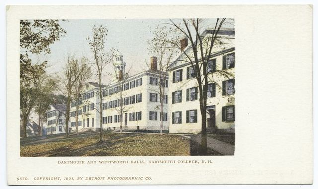 Dartmouth and Wentworth Halls, Dartmouth College, New Hampshire.
