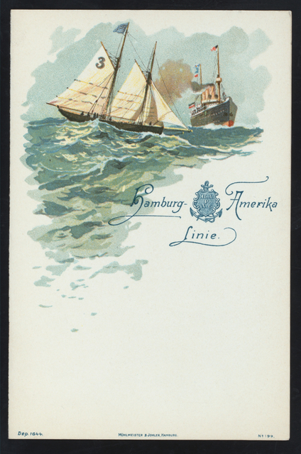 DINNER [held by] HANBURG-AMERIKA LINIE  - STEAMER FURST BISMARCK [at] EN ROUTE (SS)
