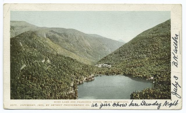 Echo Lake and Franconia Notch, White Mountains.