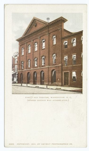 Ford's Old Theatre, where Lincoln was assassinated, Washington, D. C.