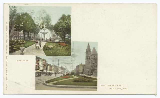 Gore Park and King Street, East, Hamilton, Ont.