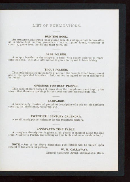 "MENUS FOR SPECIAL TRAIN TO EPISCOPAL CONVENTION IN SAN FRANCISCO, OCT. 2, 1901 [held by] EPISCOPAL SPECIAL [at] ""ABOARD TRAIN EN ROUTE, MINNEAPOLIS TO SAN FRANCISCO"" (RR;)"