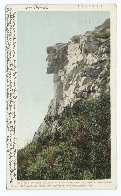 Old Man of the Mountains, Franconia Notch, White Mountains.
