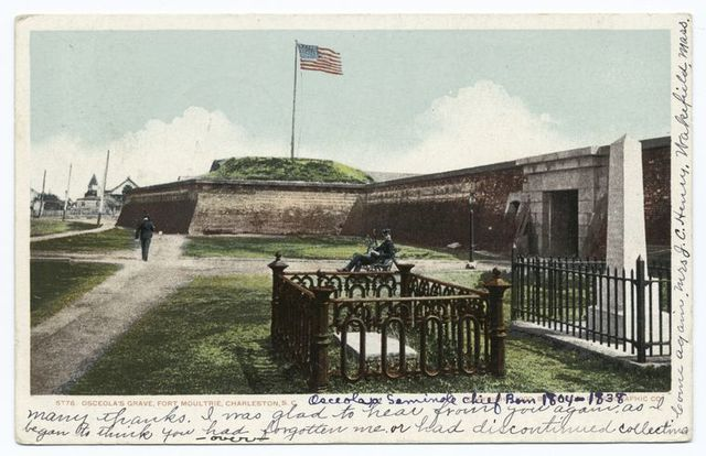 Osceola's Grave, Fort Moultrie, Charleston S. C.