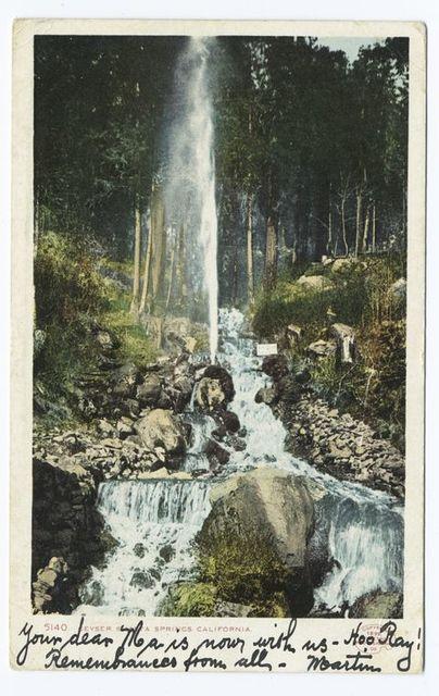 Shasta Springs Geyser, Mt. Shasta, Calif.