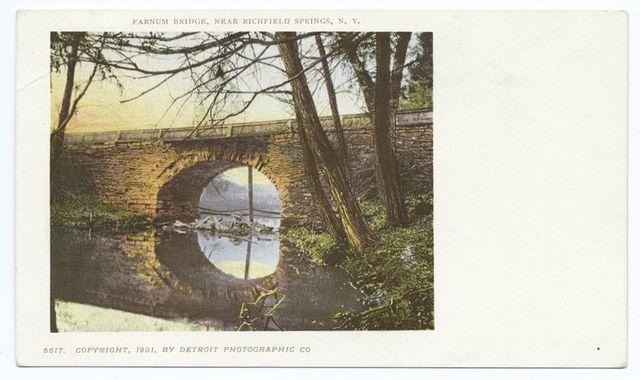 The Farnum Bridge, Richfield Springs, N. Y.