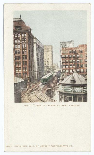 The L loop at Van Buren Street, Chicago.