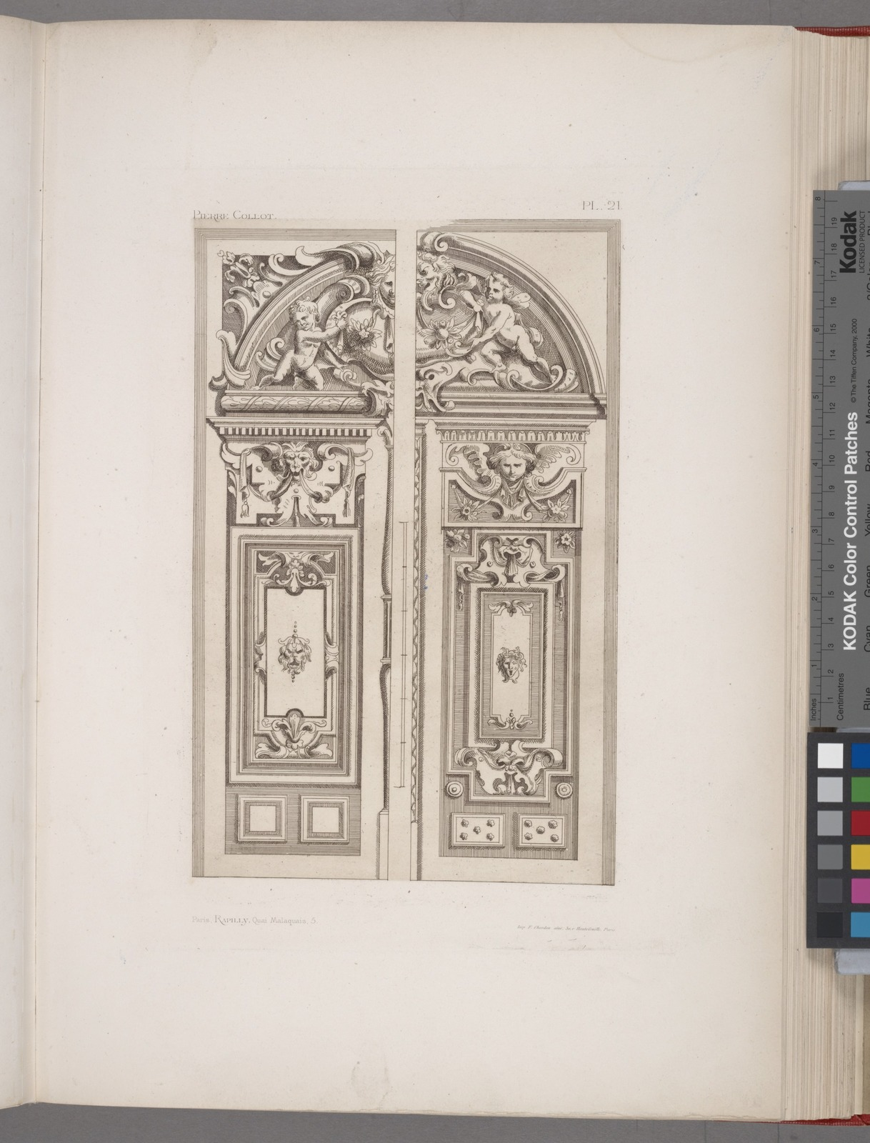 TWO DESIGNS FOR DOOR AND TYMPANUM OF SAME DIMENSIONS BUT VARIED