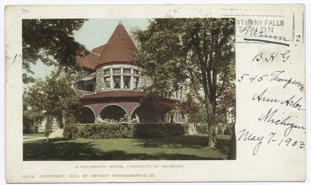 A Fraternity House, Univ. Mich., Ann Arbor, Mich.