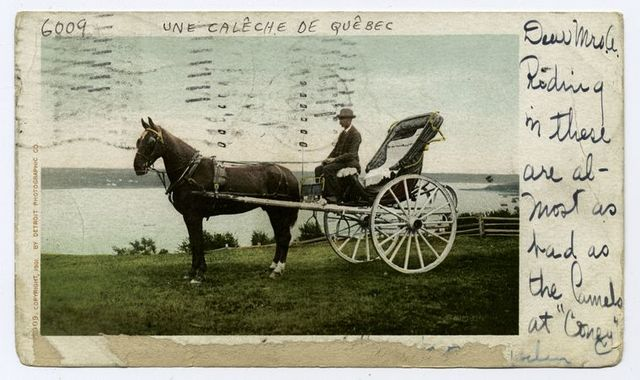 A Quebec Caleche, Quebec, P. Q.