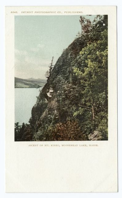 Ascent of Mt. Kineo, Moosehead Lake, Me.