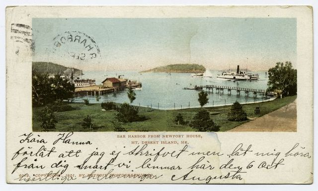 Bar Harbor from Newport House, Bar Harbor, Me.