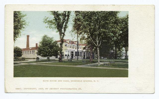 Bath House and Park, Richfield Springs, N. Y.