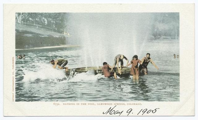 Bathing in Pool, Glenwood Spgs., Colo.