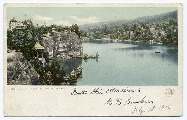 Bathing Place, Lake Mohonk, N. Y.