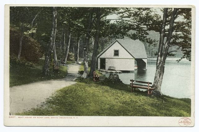 Boat House on Echo Lake, Franconia Notch, N. H.